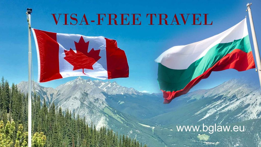 Canada and Bulgaria - visa free