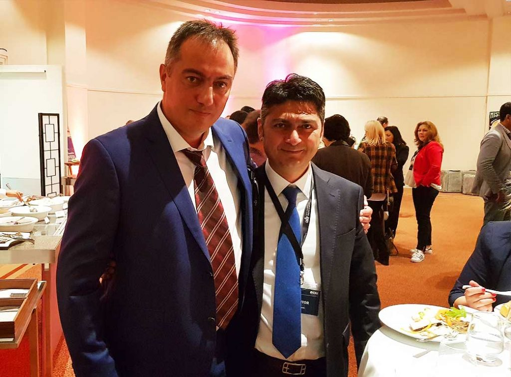 Alexander Dobrinov with business partner in the Cannes