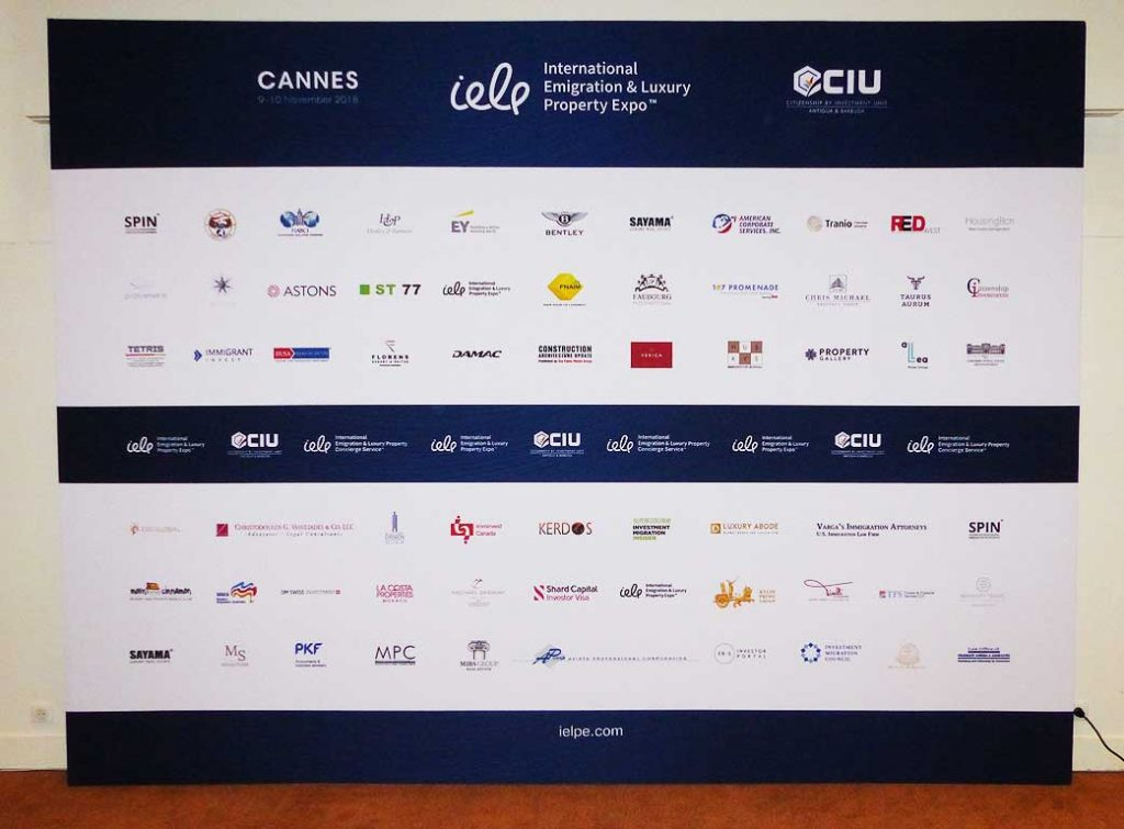 Citizenship and Investments LTD - wall Cannes, France