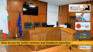 feedback extortion, how to sue