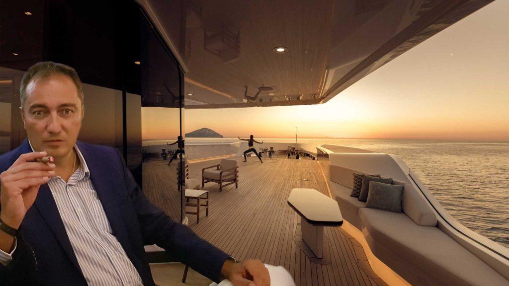 Alexander Dobrinov on a yacht