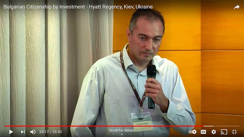 Alexander Dobrinov speaking about Citizenship by Investment