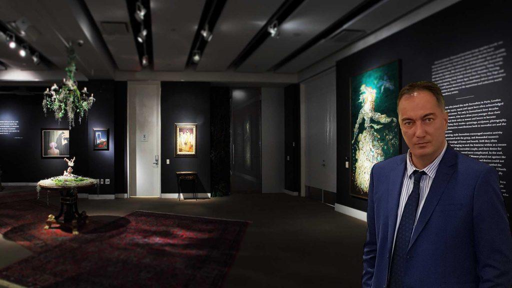 Alexander Dobrinov in art gallery